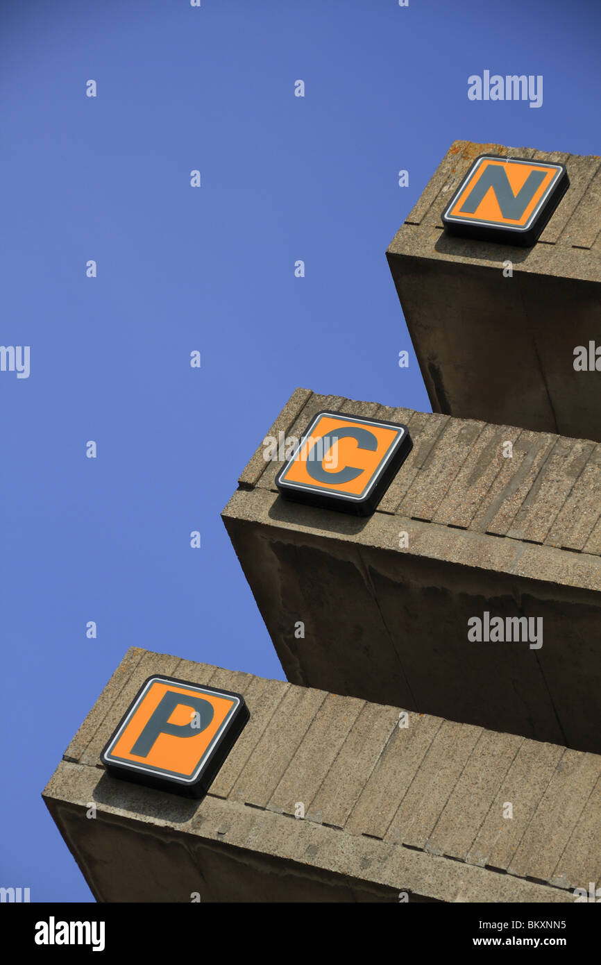 An NCP multistory car park. - Stock Image