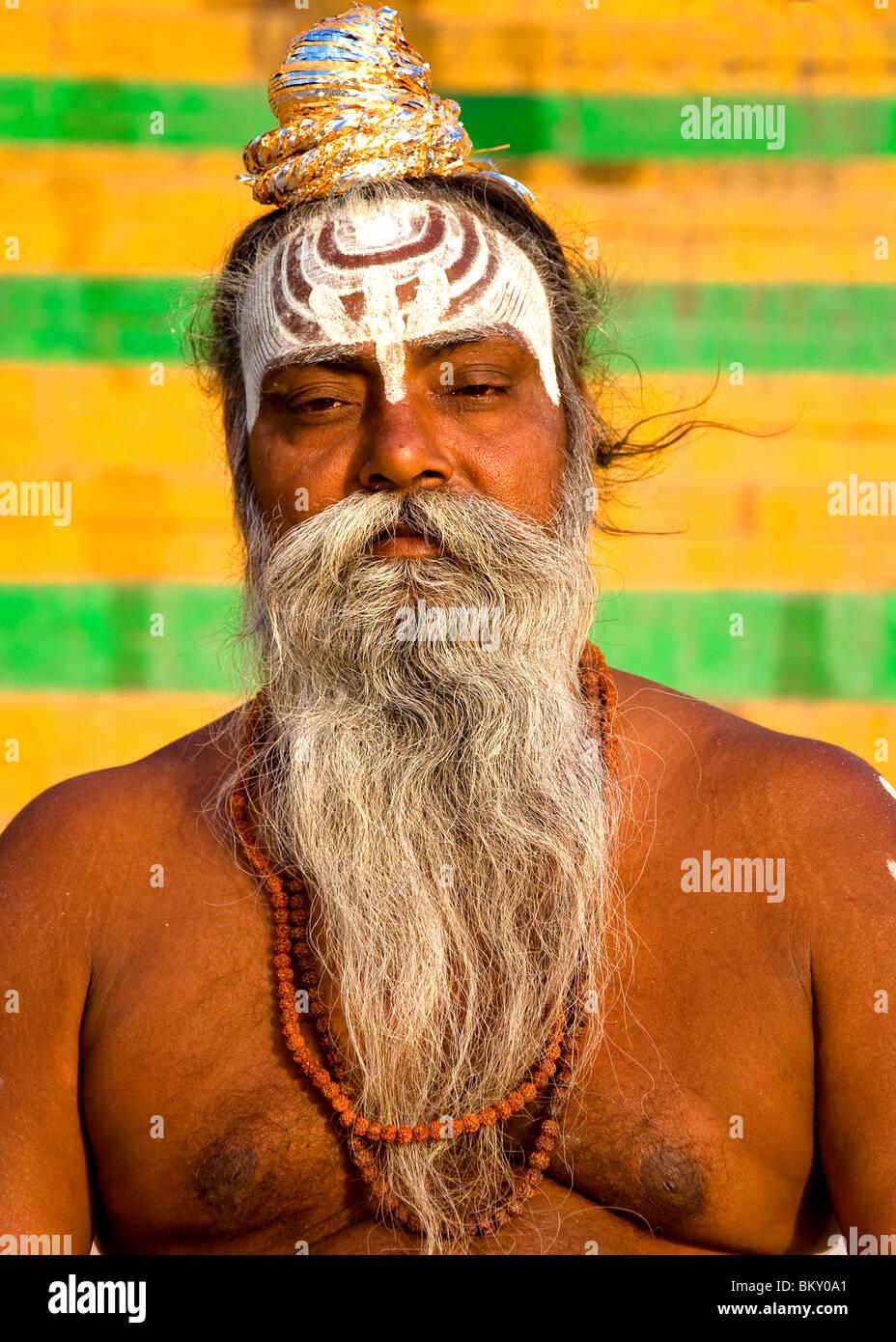 Holy Man, Varanasi, India - Stock Image