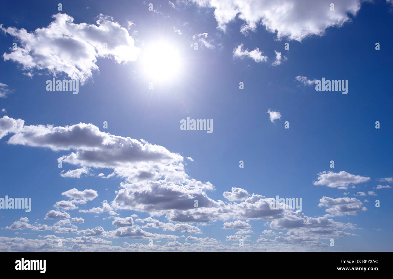 Cumulus clouds - Stock Image