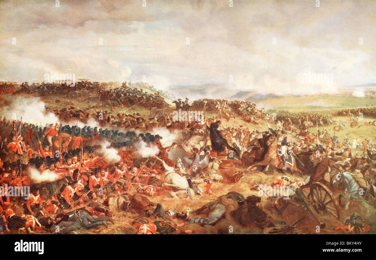 Charge of The French Cuirassiers at Waterloo - Stock Image