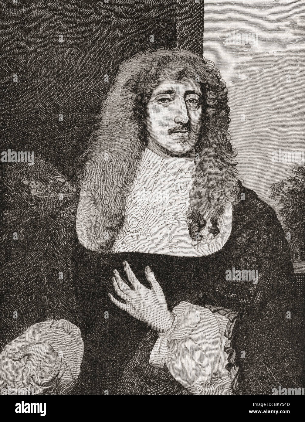 Anthony Ashley Cooper, 1st Earl of Shaftesbury 1621 to 1683. English politician during the Interregnum. - Stock Image