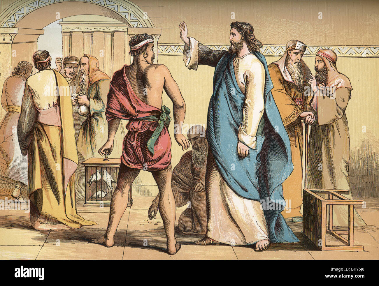 The Expulsion from the Temple - Stock Image
