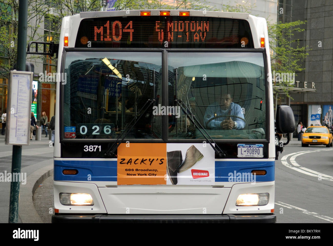 Mta Public Bus Stock Photos & Mta Public Bus Stock Images ... on nyc mta bus routes map, m101 bus map, west side idaho map, m104 bus map nyc, m15 new york map, 83 street 2 nd avenue new york map, m22 nyc bus map, m20 bus map, queens bus map,