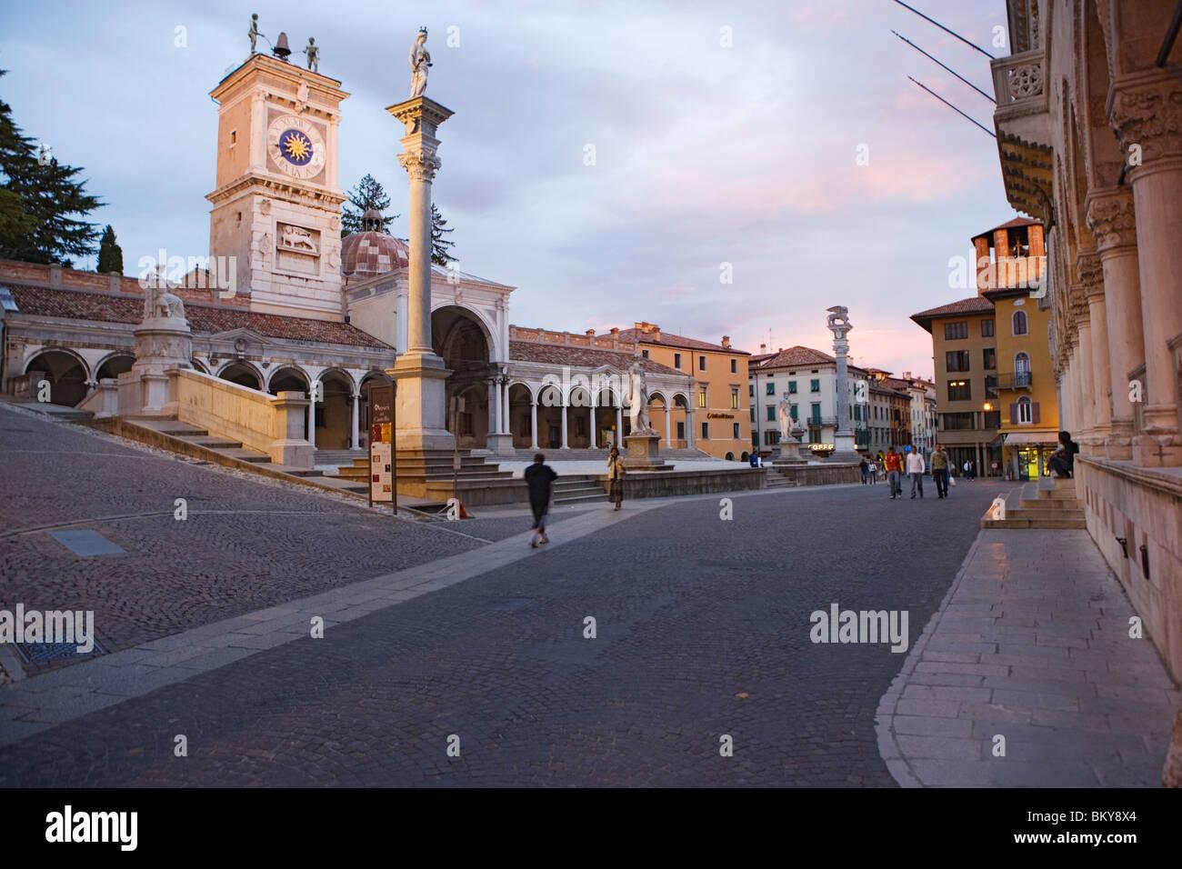 Loggia di San Giovanni on the Piazza della Liberta in Udine, Friuli-Venezia Giulia, Italy Stock Photo