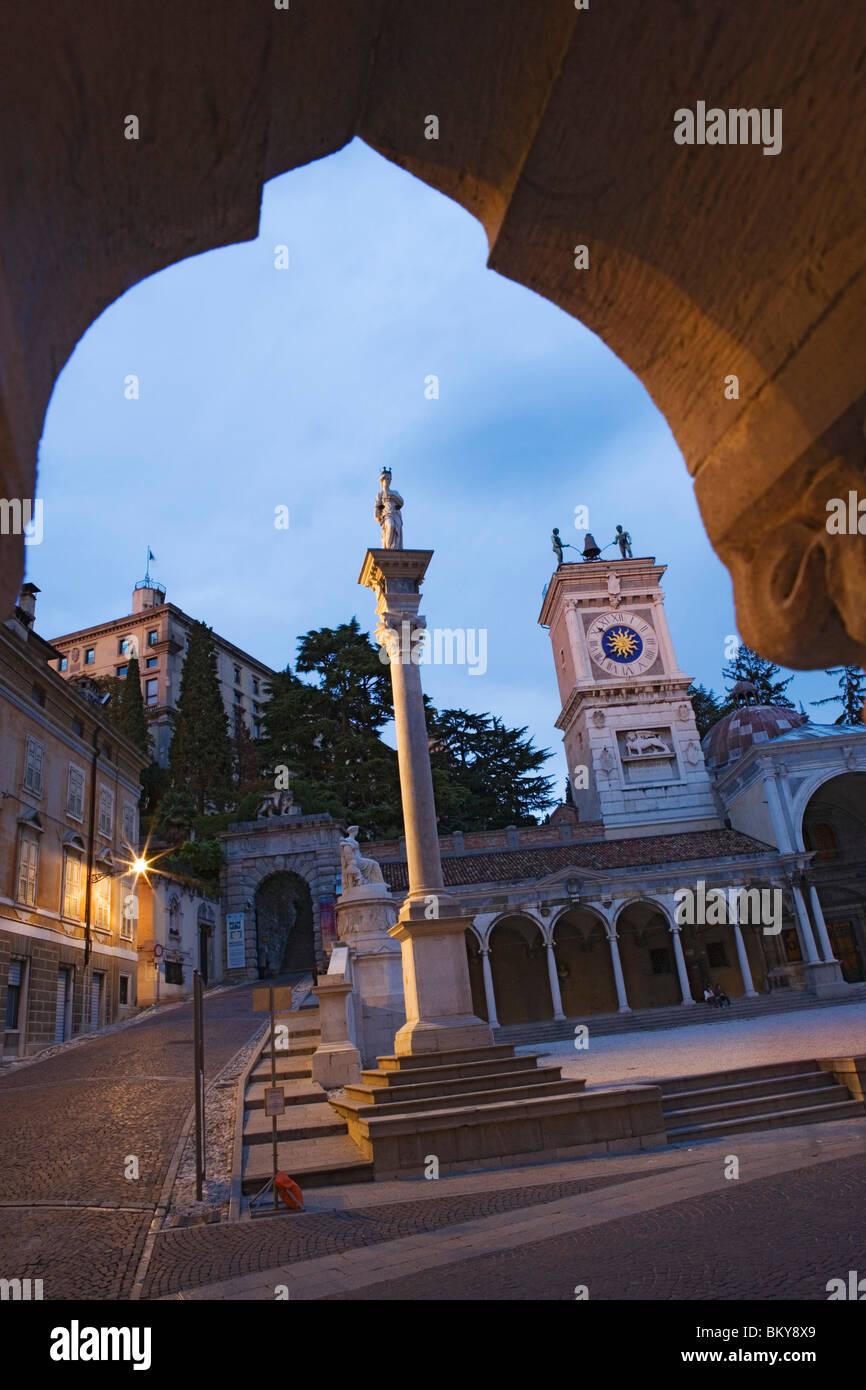 Loggia di San Giovanni on the Piazza della Liberta in Udine, Friuli-Venezia Giulia, Italy - Stock Image