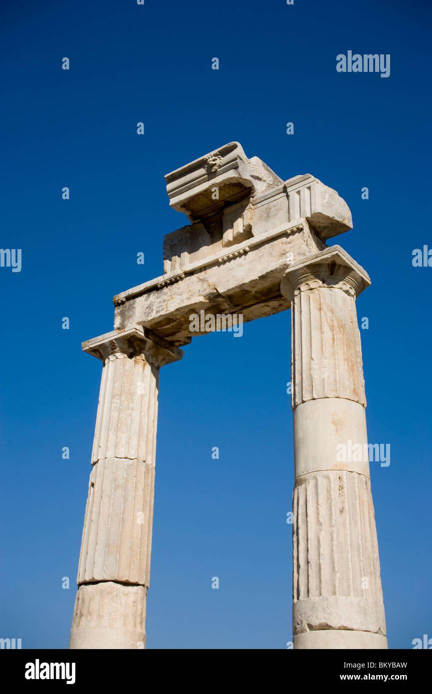 Remains of the Agora, Kos-Town, Kos, Greece Stock Photo