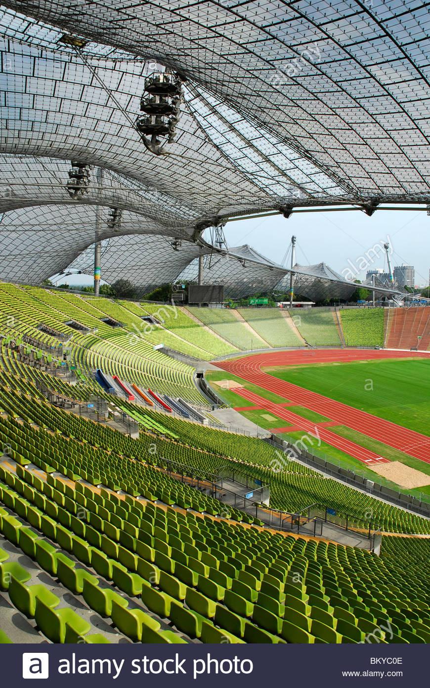 Olympiastadion (Olympic Stadium), Munich, Bavaria, Germany - Stock Image