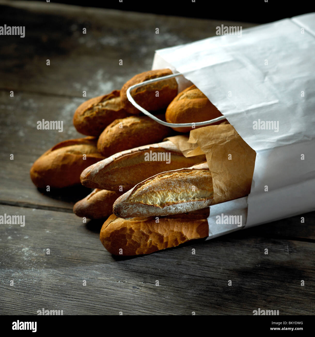 Bag of bread - Stock Image