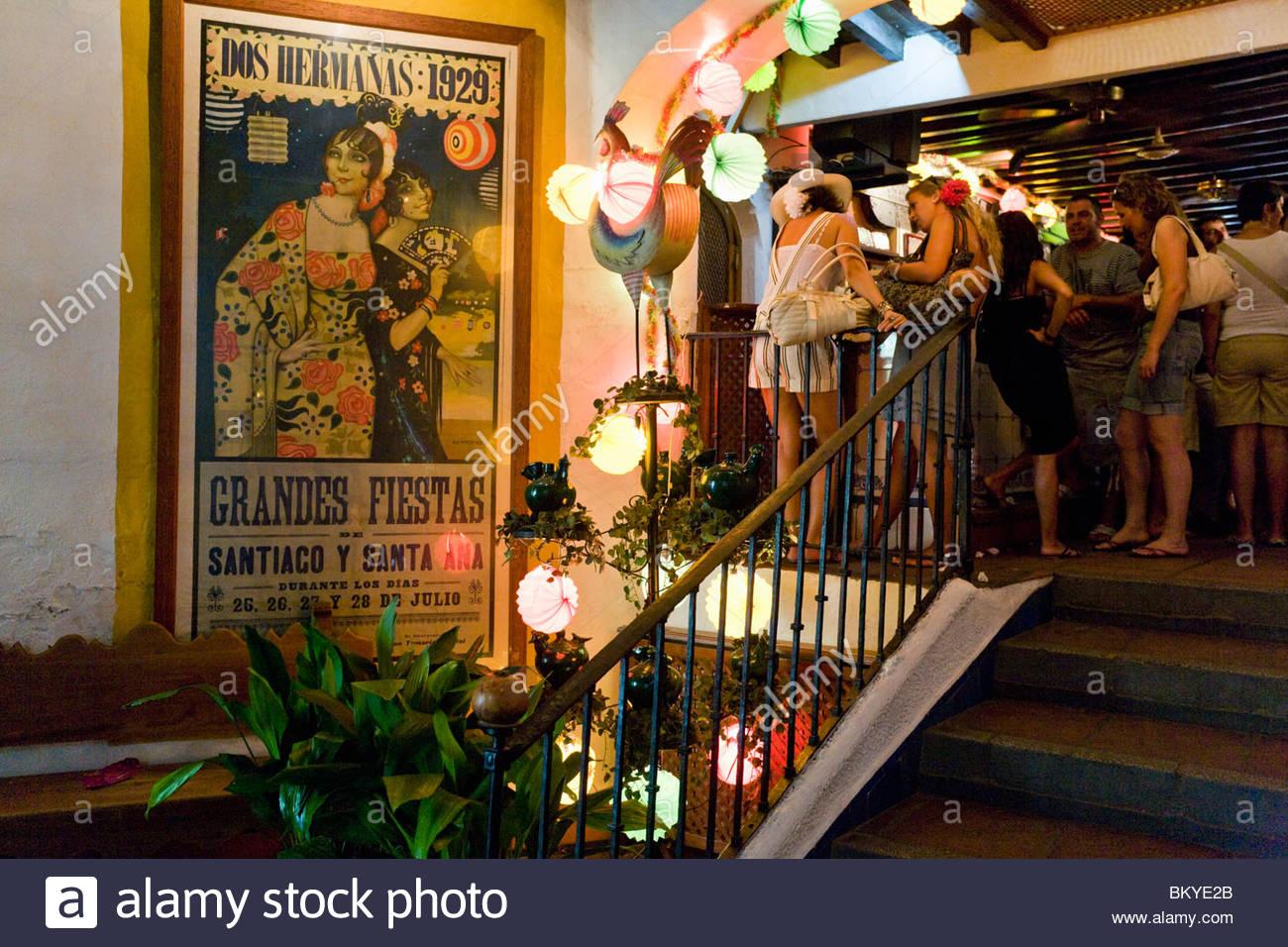 Well Known Bodega Bar El Pimpi Malaga Andalucia Province Malaga