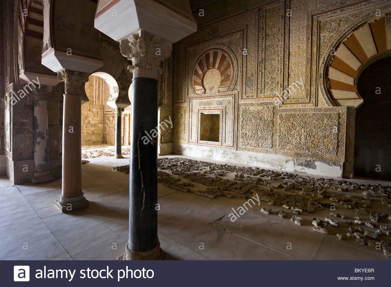 Medinat al-Zahra, residence of the andalusian Calif, Province Cordoba, Andalucia, Spain - Stock Image