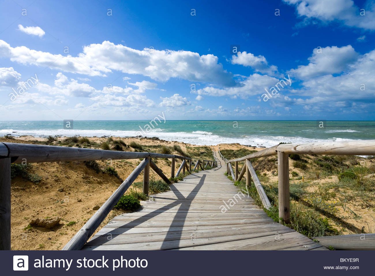 Beach at Cabo de Trafalgar, Province Cadiz, Andalucia, Spain - Stock Image