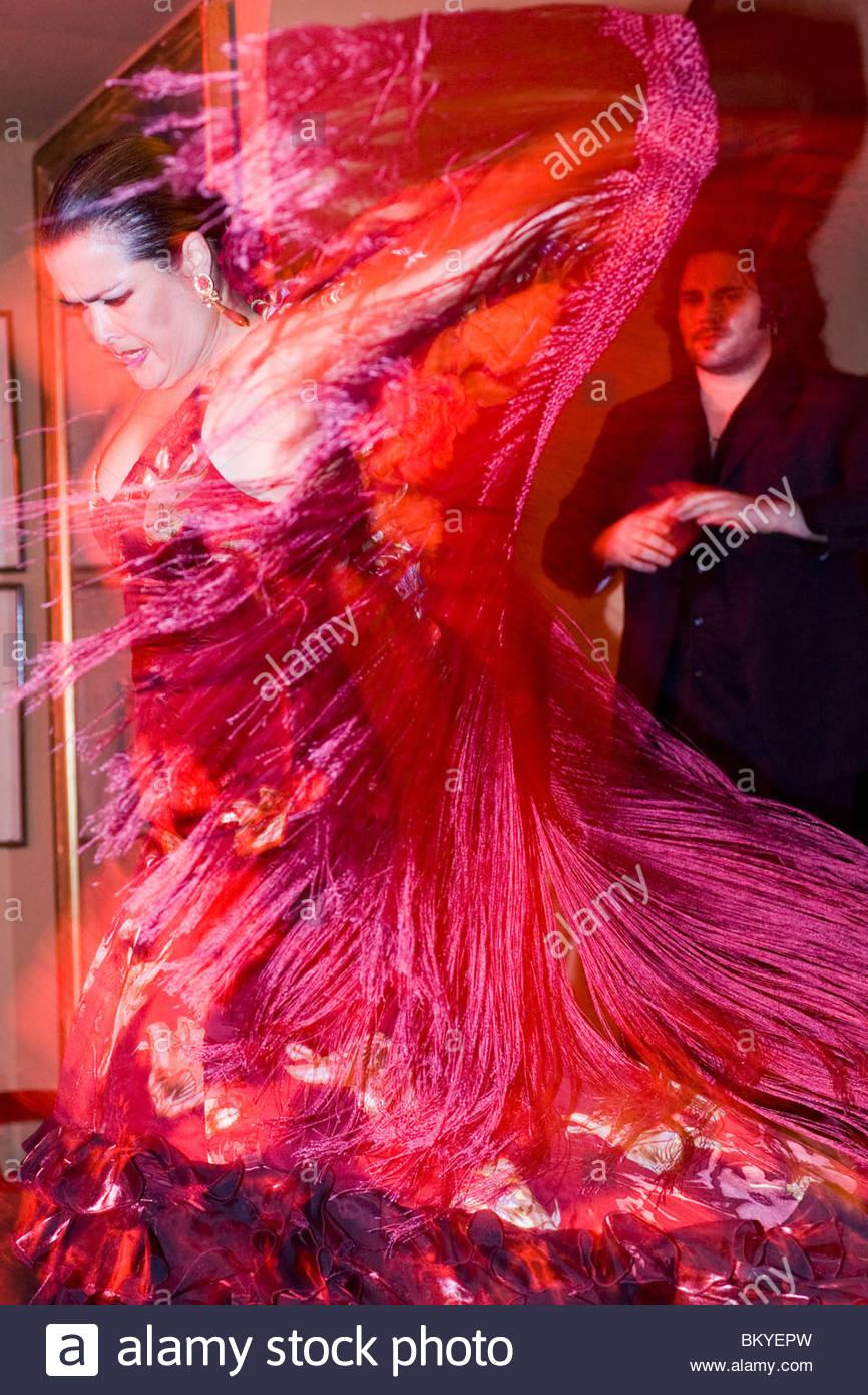 Flamenco dancing in the district El Arenal in Sevilla, Andalucia, Province Sevilla, Spain - Stock Image