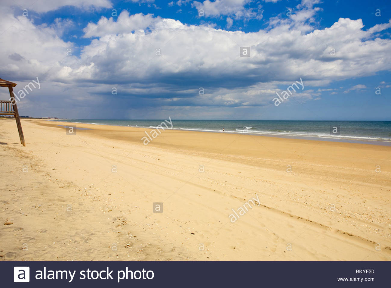 Beach at Isla Cristina, Playa del Hoyo, Province Huelva, Andalucia, Spain - Stock Image