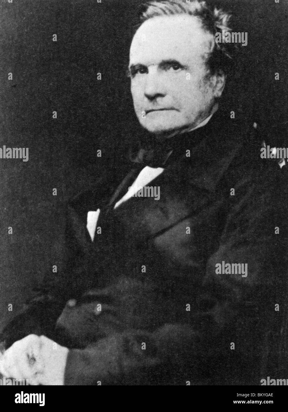 CHARLES BABBAGE (1791-1871I) English mathematician and inventor  photographed in 1860 - Stock Image