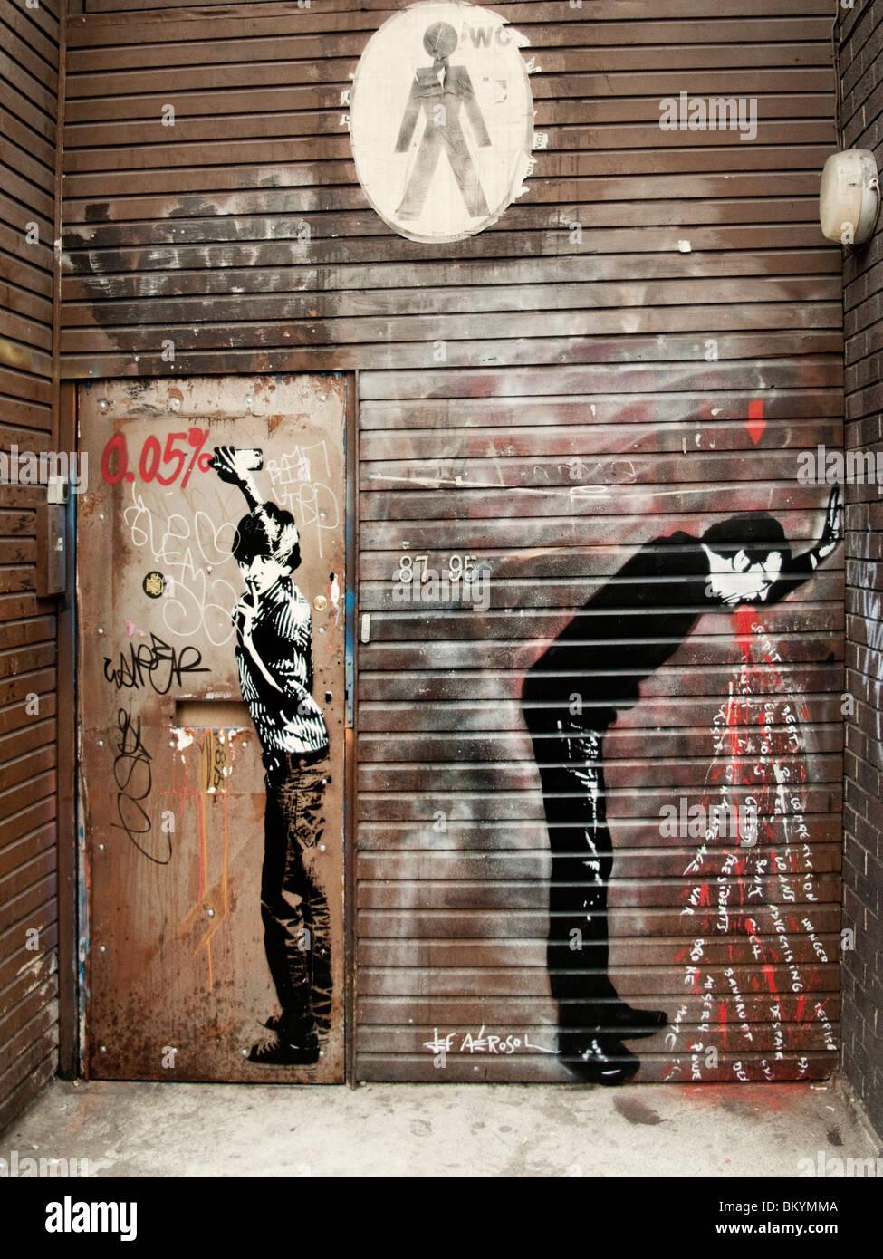 Graffiti  by Jef Aerosol,Hoxton,London - Stock Image