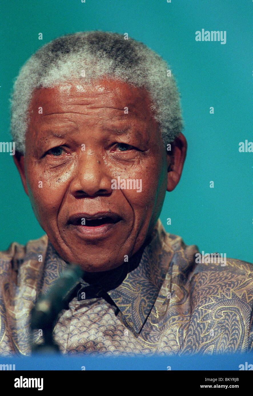 NELSON MANDELA PRESIDENT OF SOUTH AFRICA 17 December 1997 - Stock Image