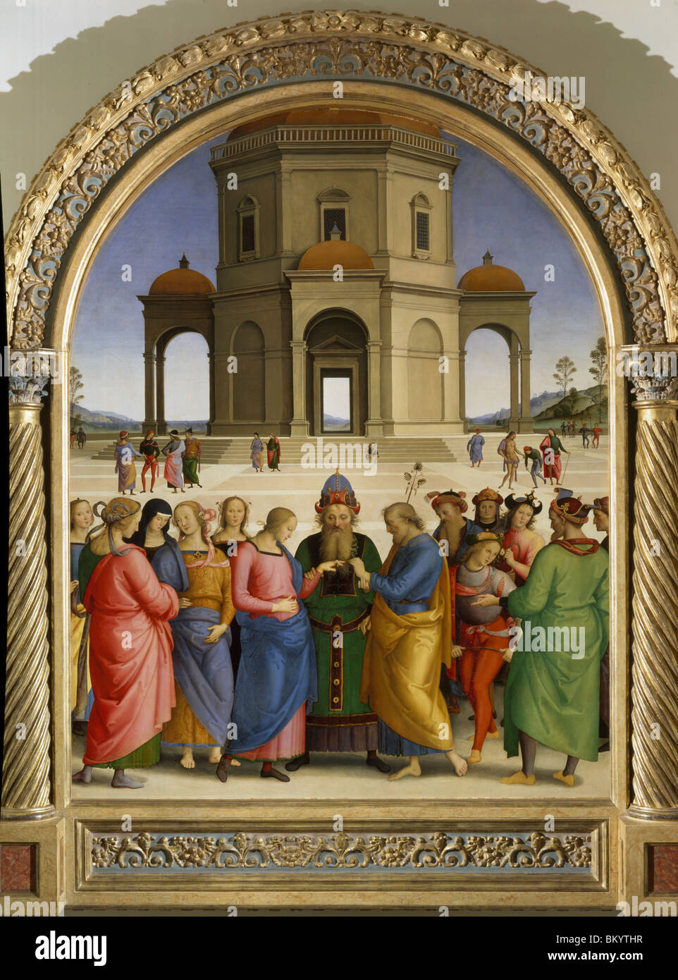 The Marriage of the Virgin,  c. 1500-1504,  Pietro Perugino (c. 1450-1523/Italian),  Musee des Beaux-Arts,  Caen - Stock Image