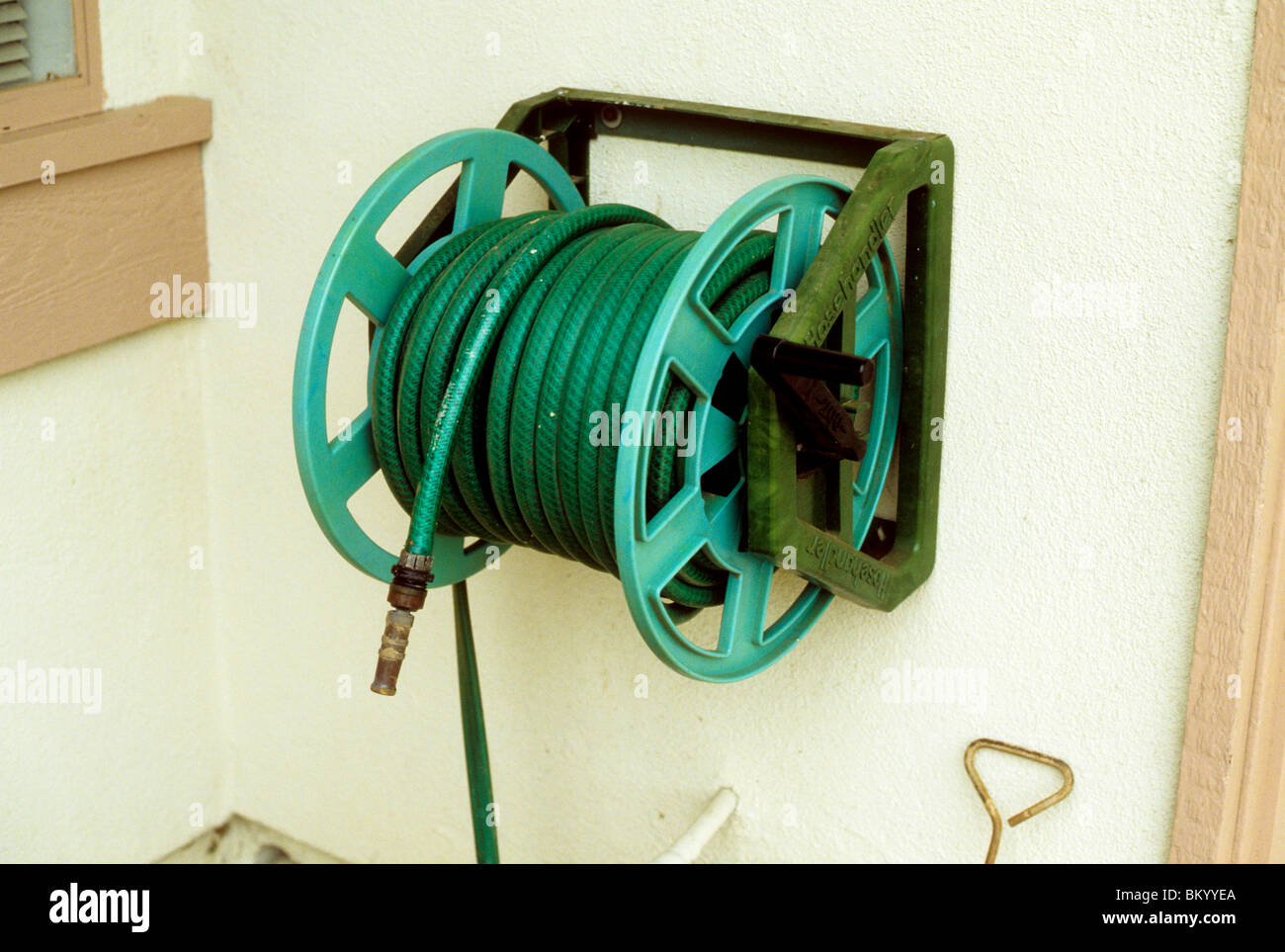 Hose Reel Wall Of House Home Tool Control Neat Organize Store Storage  Plastic Yard Garden Lawn Grass Pool