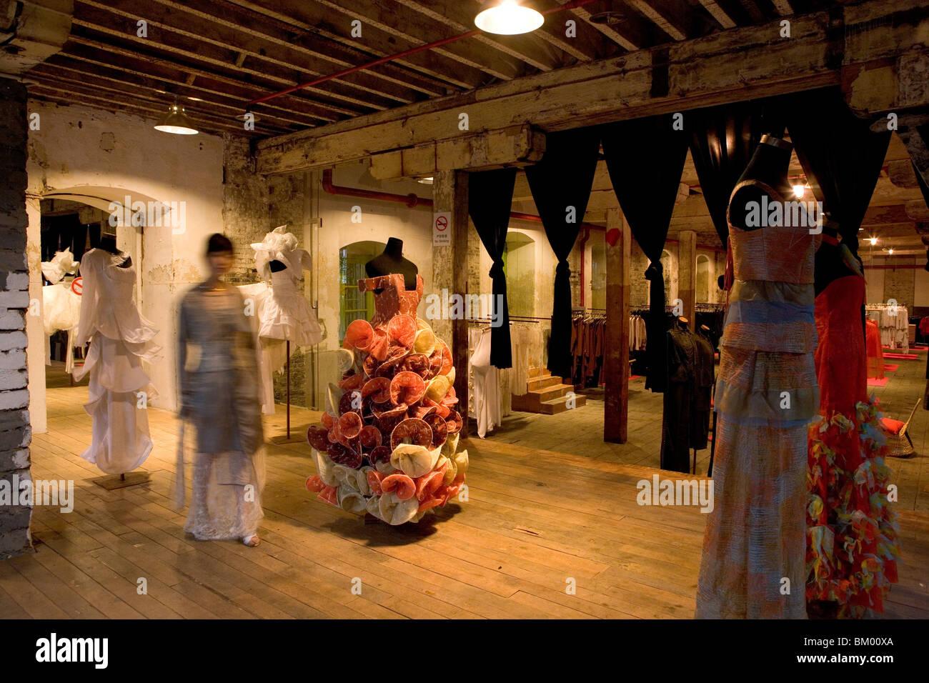 Fashion, Biche de Bere, French haute couture and pret a porter designer Biche de Bere, warehouse at Souzhou Creek, - Stock Image
