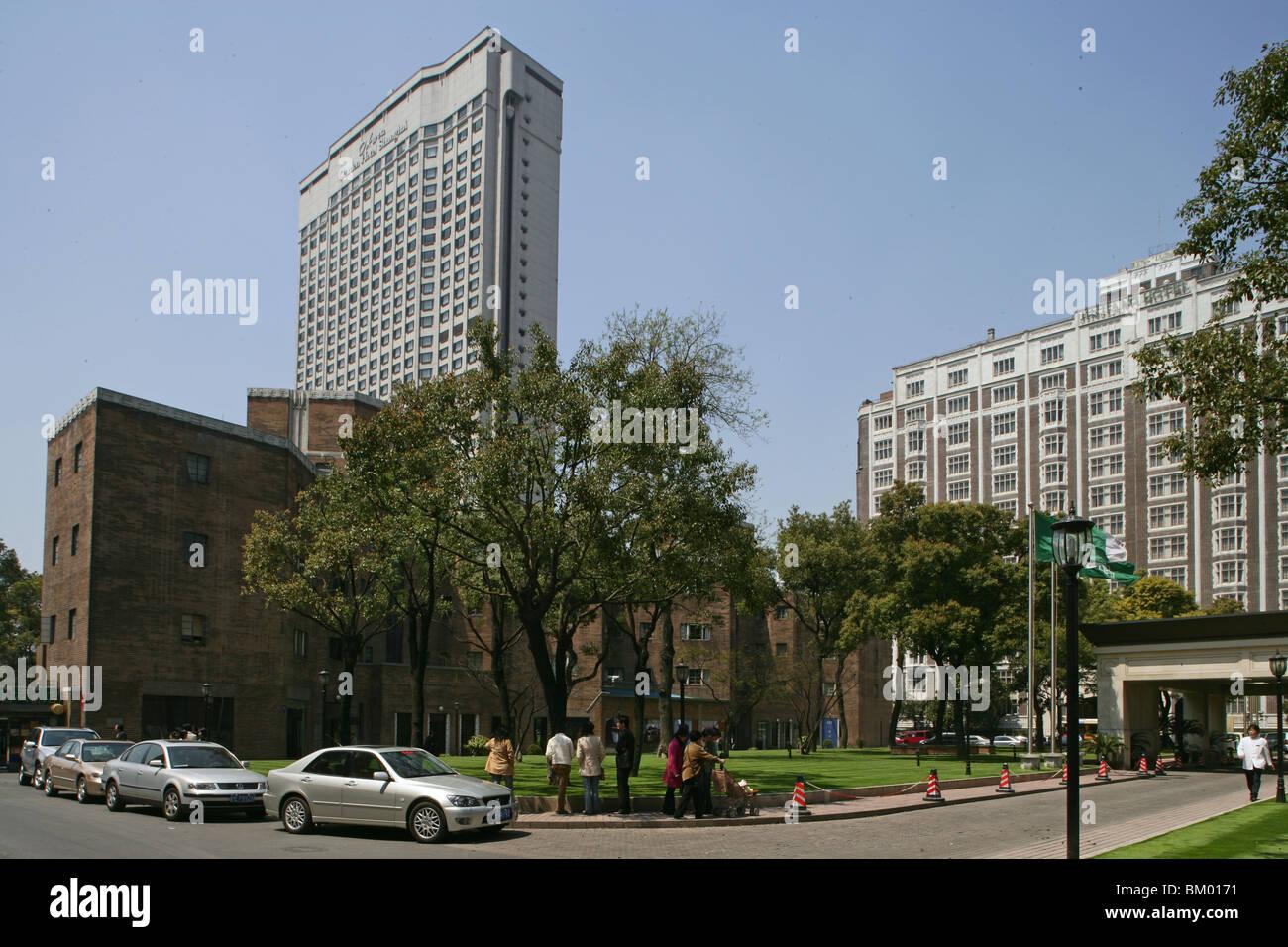 Jin Jiang Hotel And Okura Garden Hotel, Luxury Hotels   Stock Image