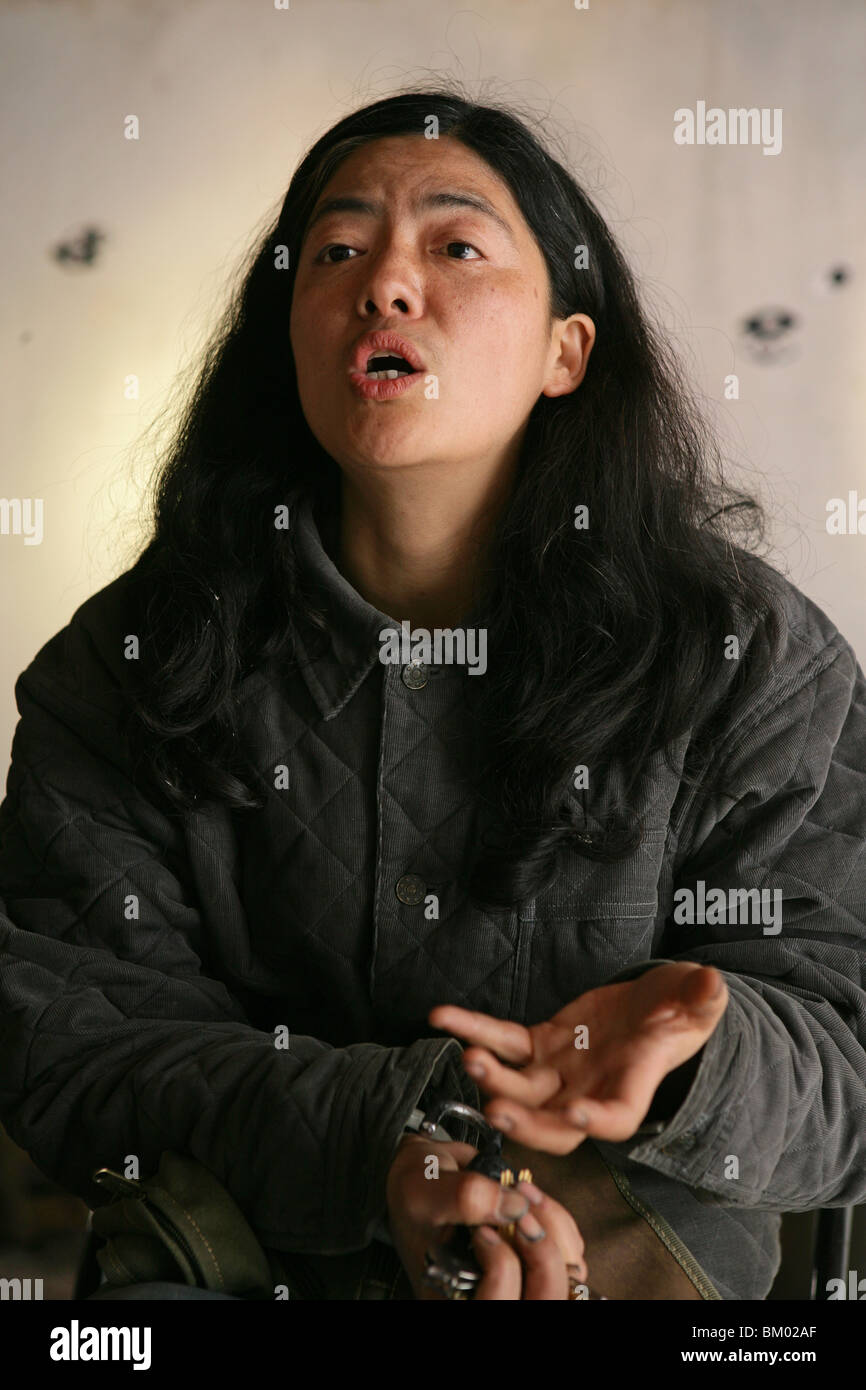 Environmentalist, Yuqi Han, Yuqi Han, author and environmentalist, activist, kaempft von Stadtraum, fights destruction of urban Stock Photo