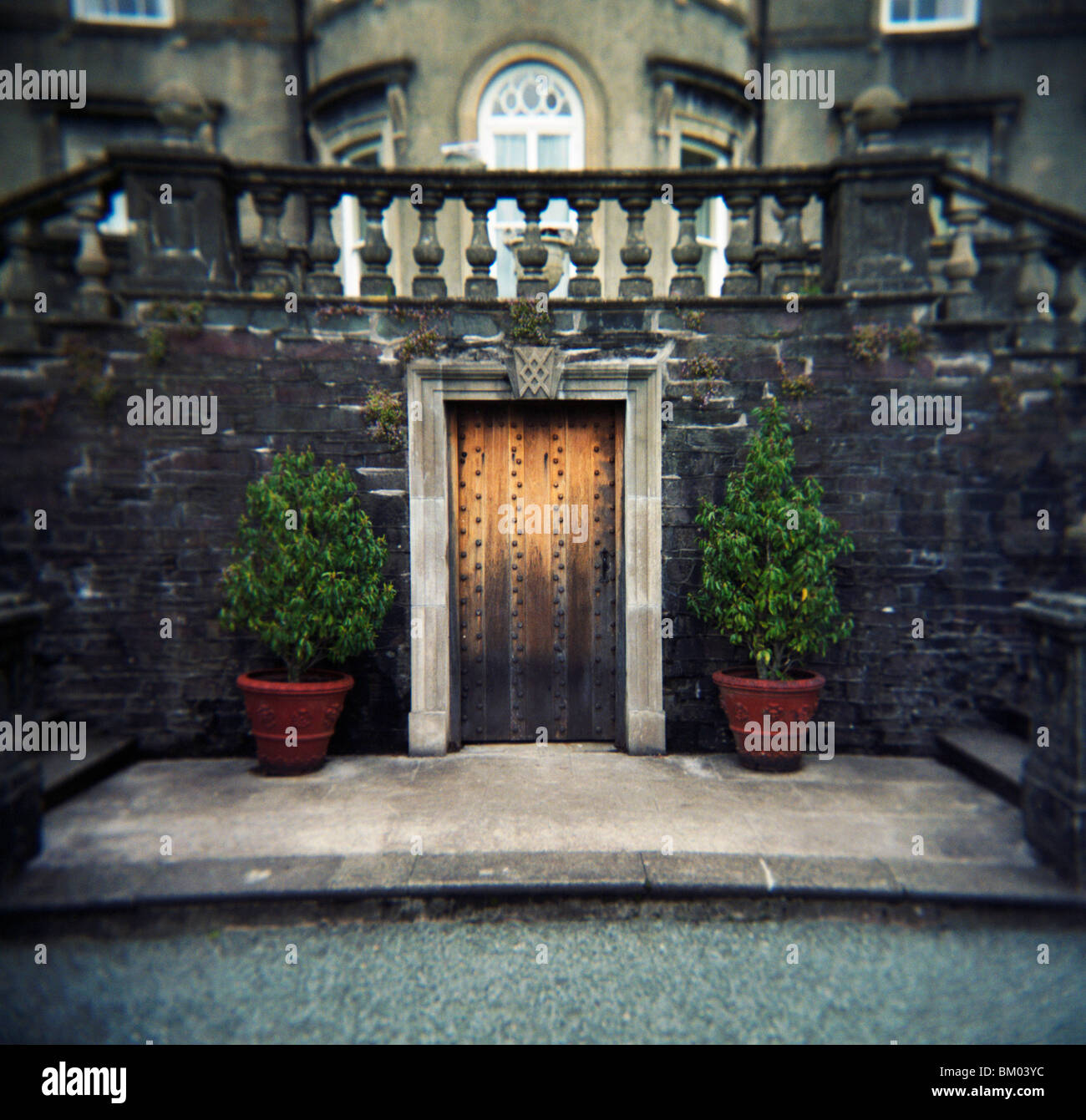 Grand entrance at Rydal Hall, Lake District. Cumbria - Stock Image
