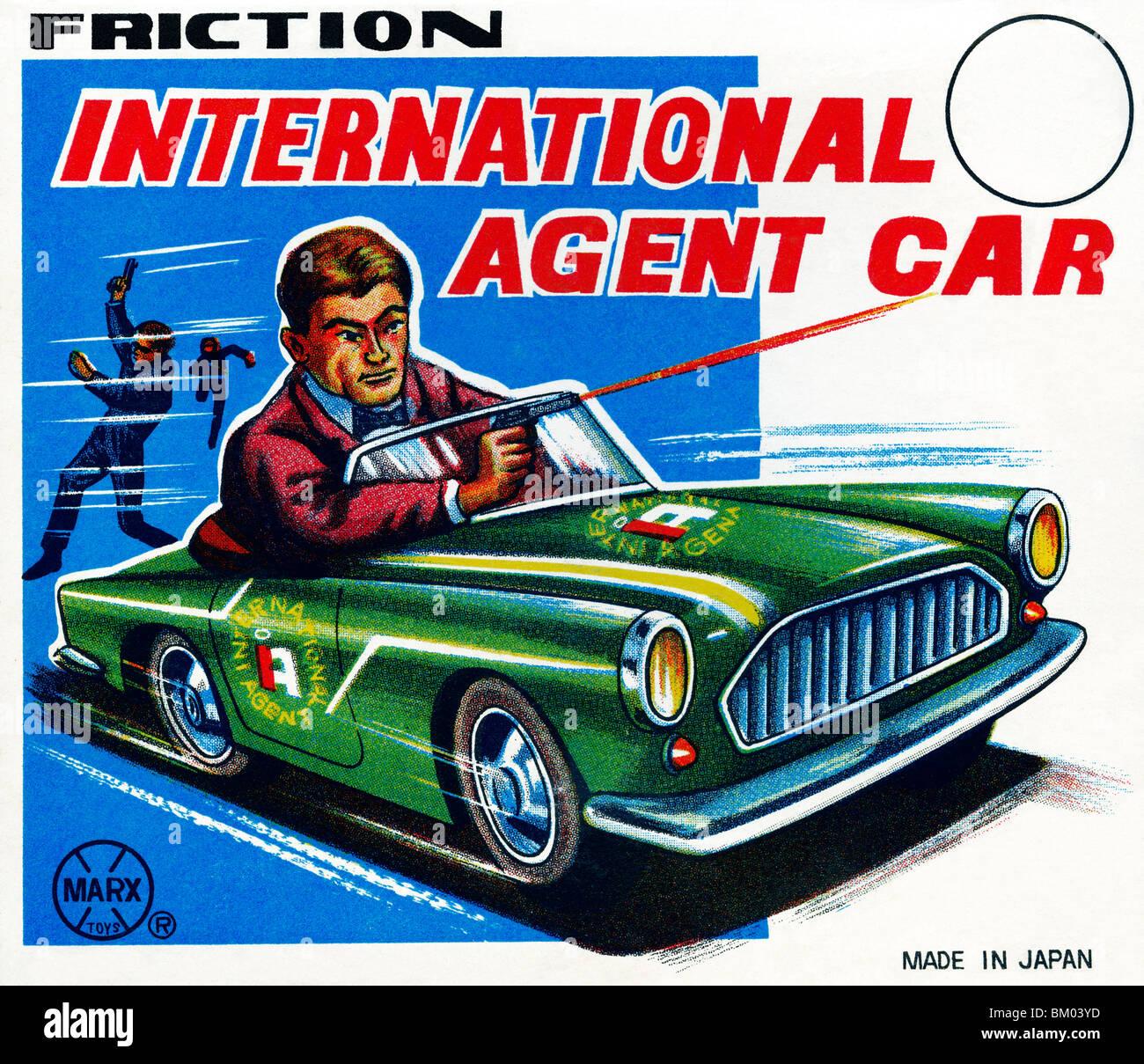 International Agent Car - Stock Image