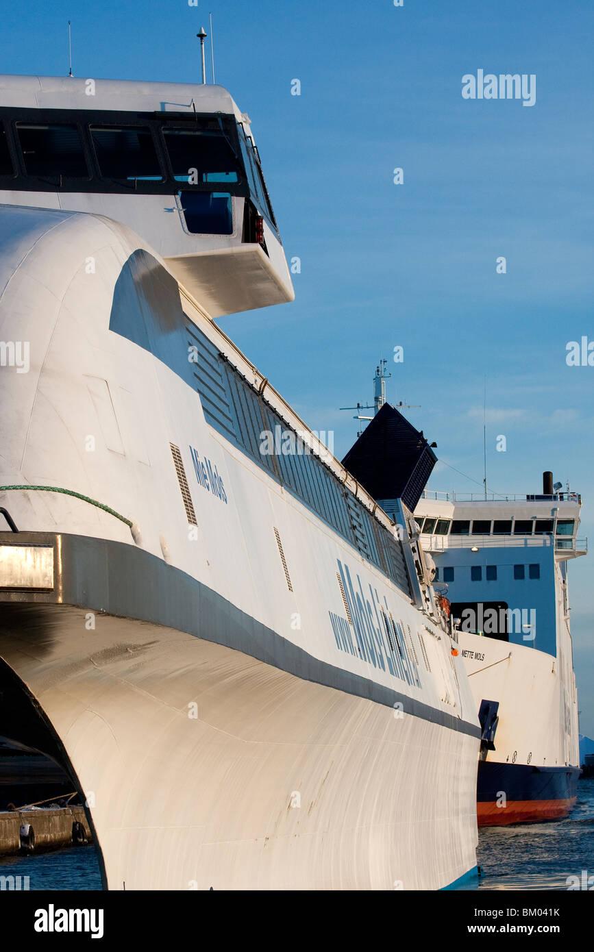 Mols-Linien ships. - Stock Image