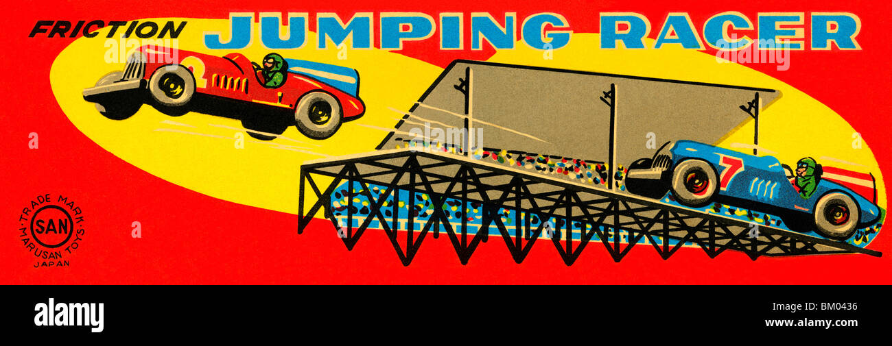 Jumping Racer - Stock Image