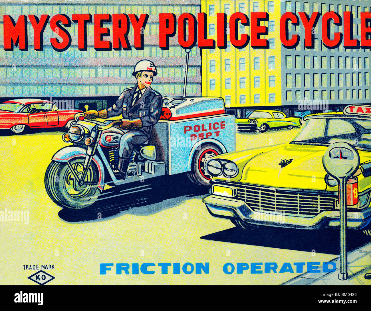 Mystery Police Cycle - Stock Image