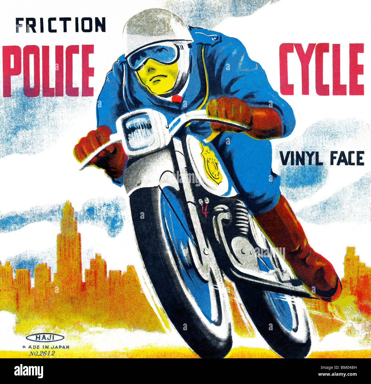 Friction Police Cycle - Stock Image