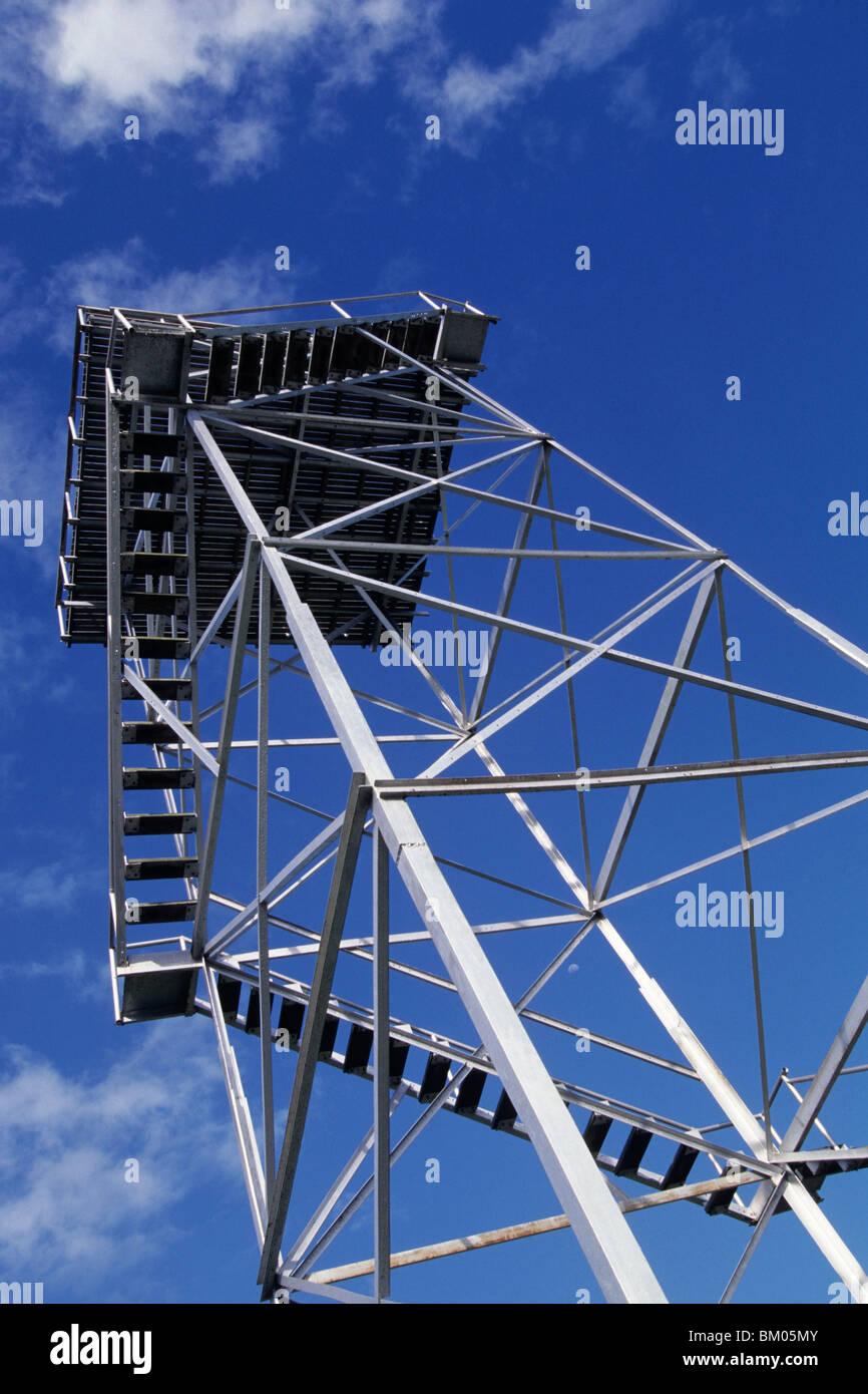 Henderson Field Control Tower, Near Honiara, Guadalcanal, Solomon Islands - Stock Image