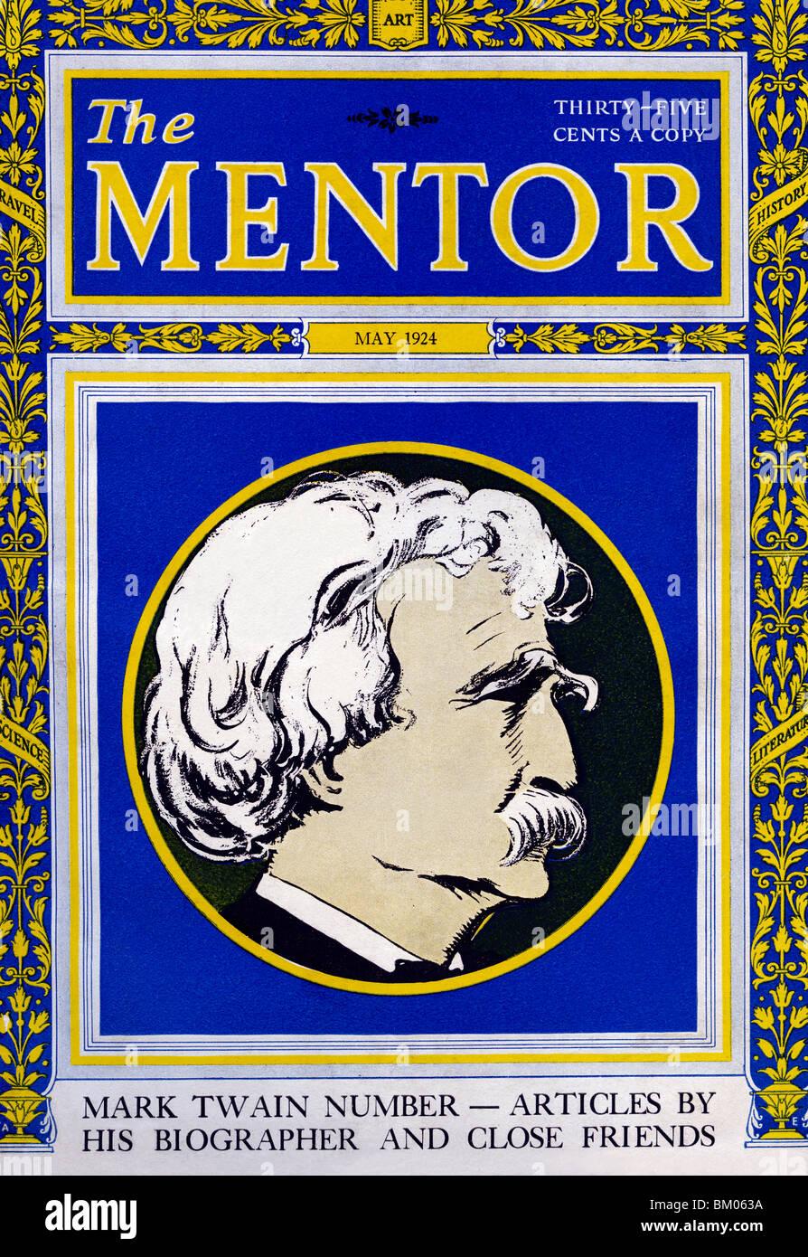 The Mentor - Mark Twain - Stock Image
