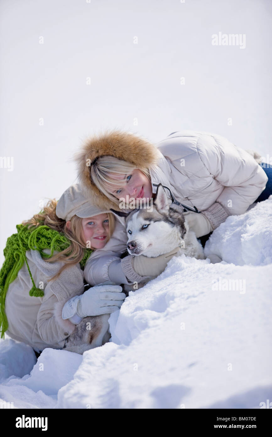 Love of animals - Stock Image