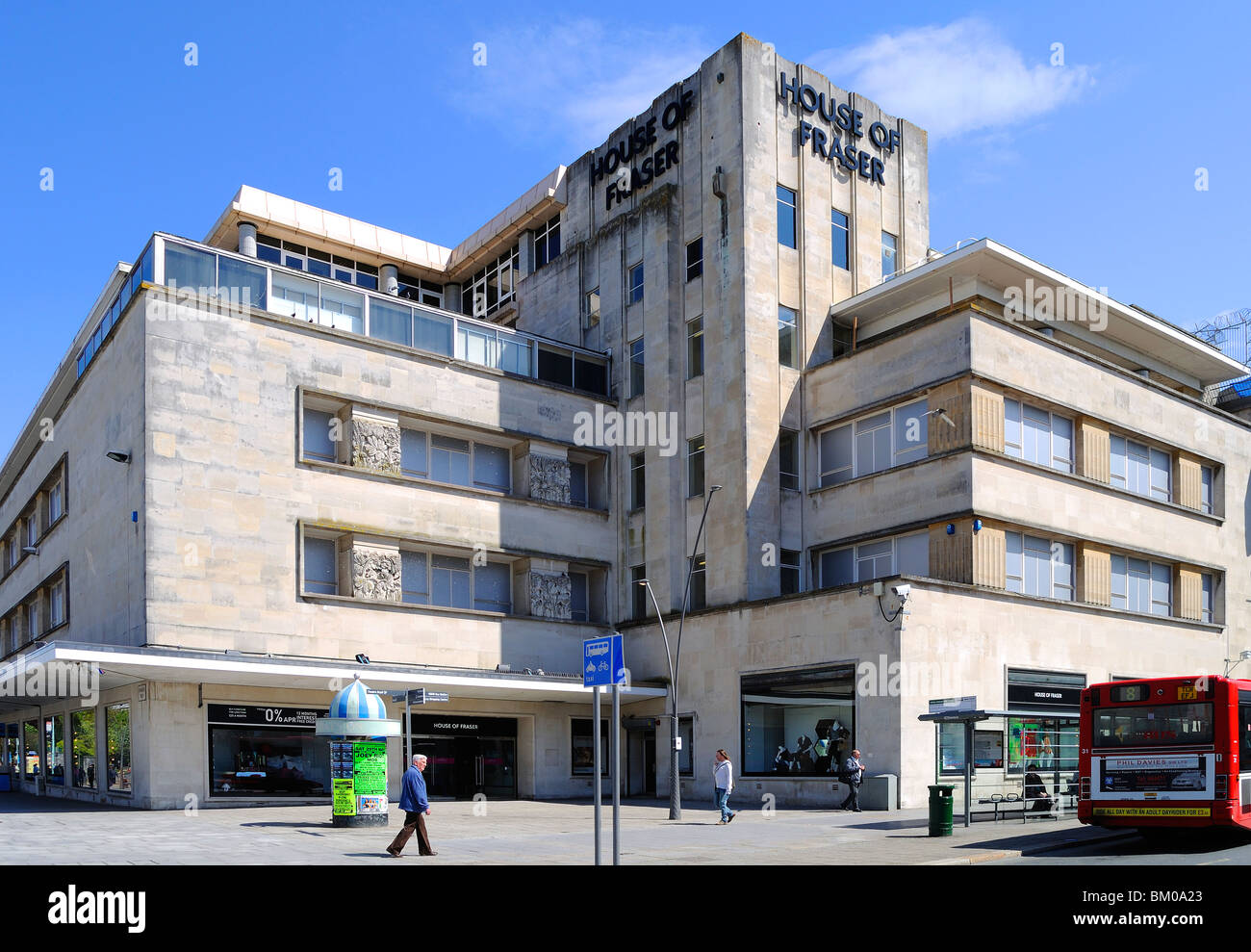 the ' house of fraser ' building in plymouth, devon, uk - Stock Image
