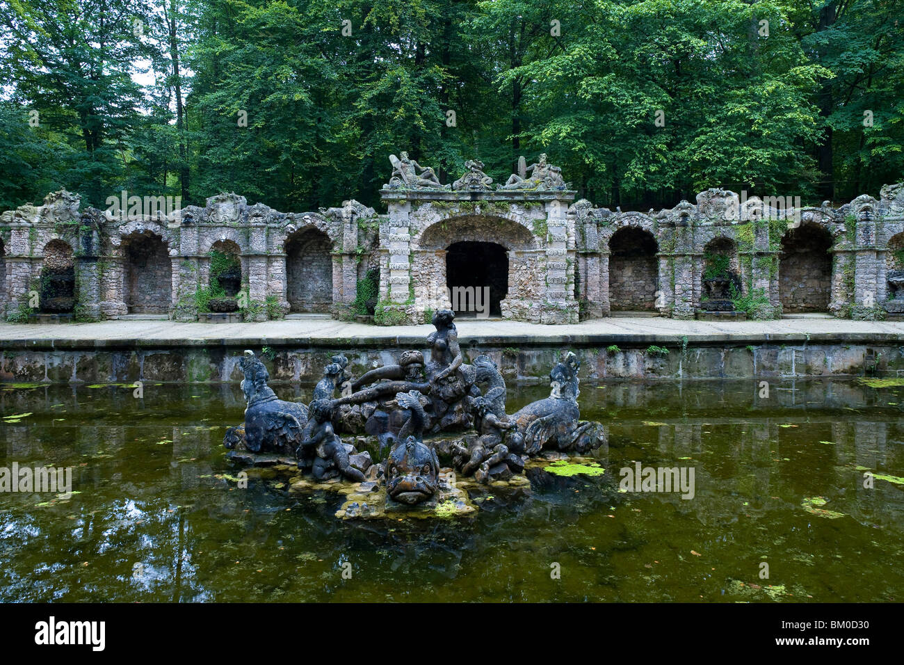 Parnass in the Eremitage park, Bayreuth, Bavaria, Germany, Europe - Stock Image
