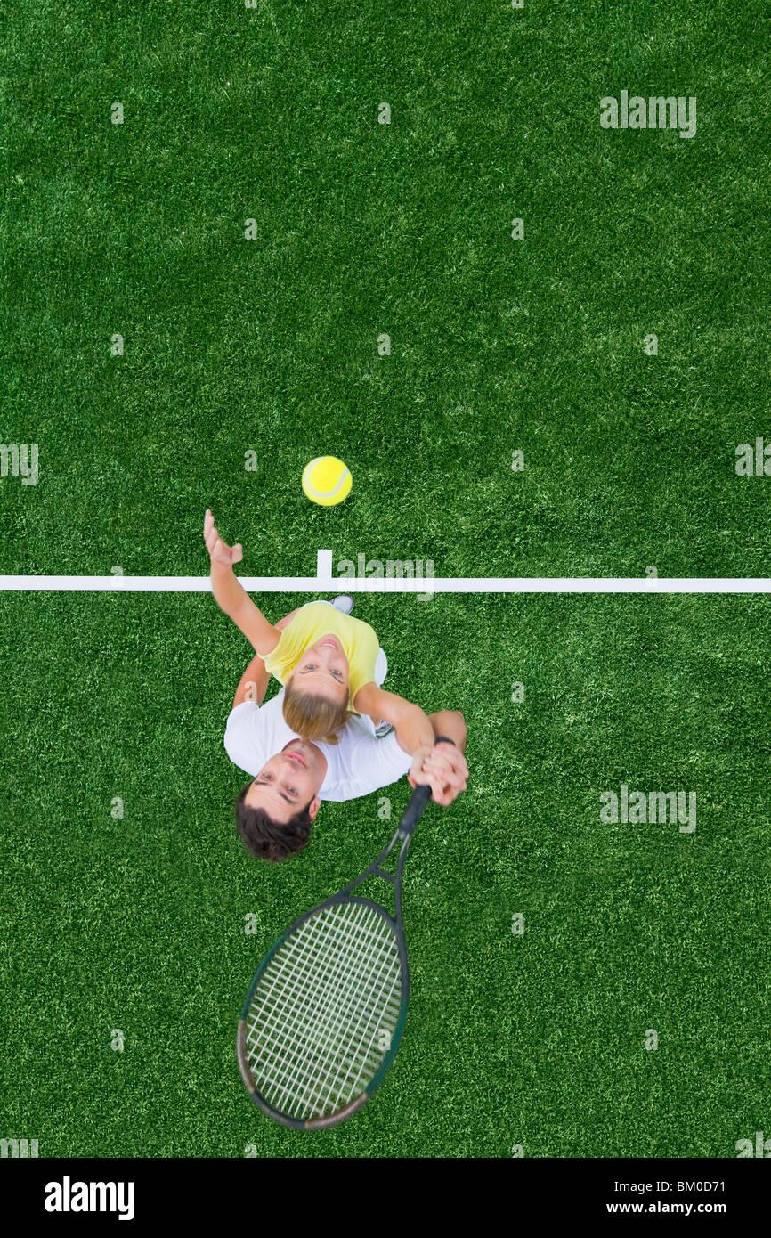 Tennis match - Stock Image