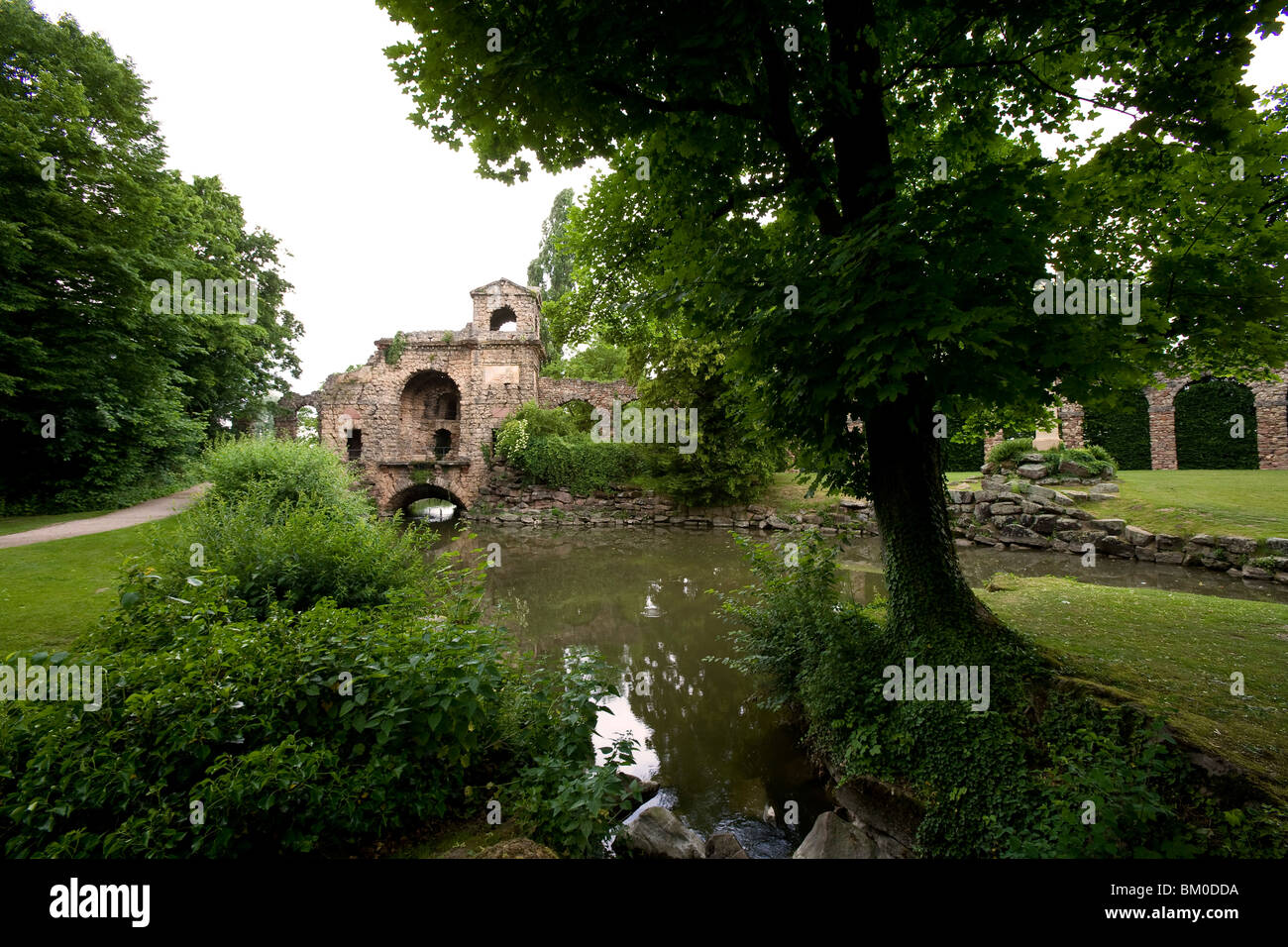 Palace gardens of Schwetzingen castle, Baden-Wuerttemberg, Germany, Europe - Stock Image