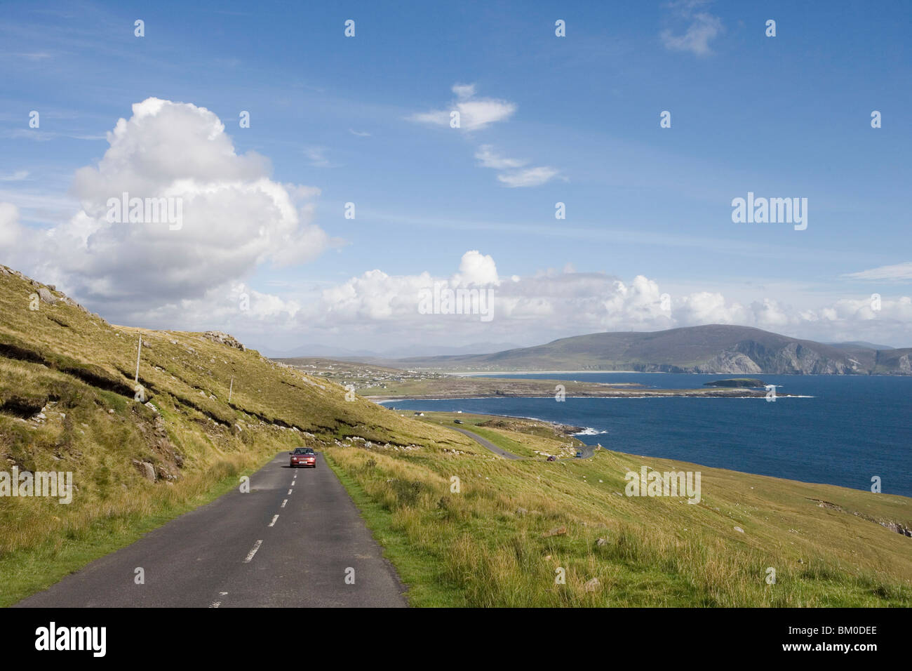 Achill Island Atlantic Drive, Near Keem, Achill Island, County Mayo, Ireland - Stock Image