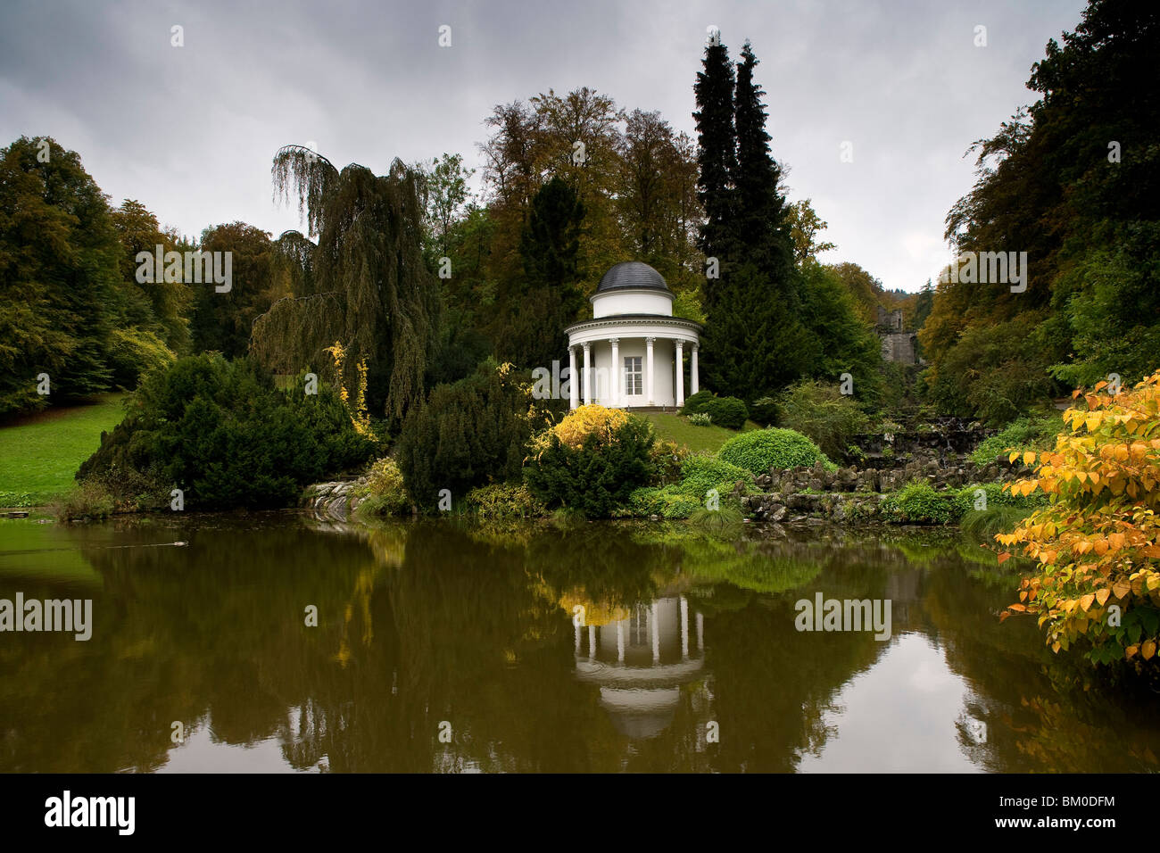Apollo Temple in Bergpark Wilhelmshoehe, largest European hillside park, Kassel, Hesse, Germany, Europe - Stock Image
