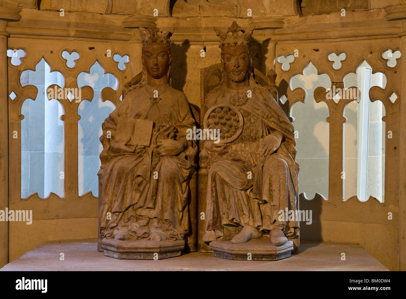 The Royal Couple in Magdeburg Cathedral, on the river Elbe, Magdeburg, Saxony-Anhalt, Germany, Europe - Stock Image