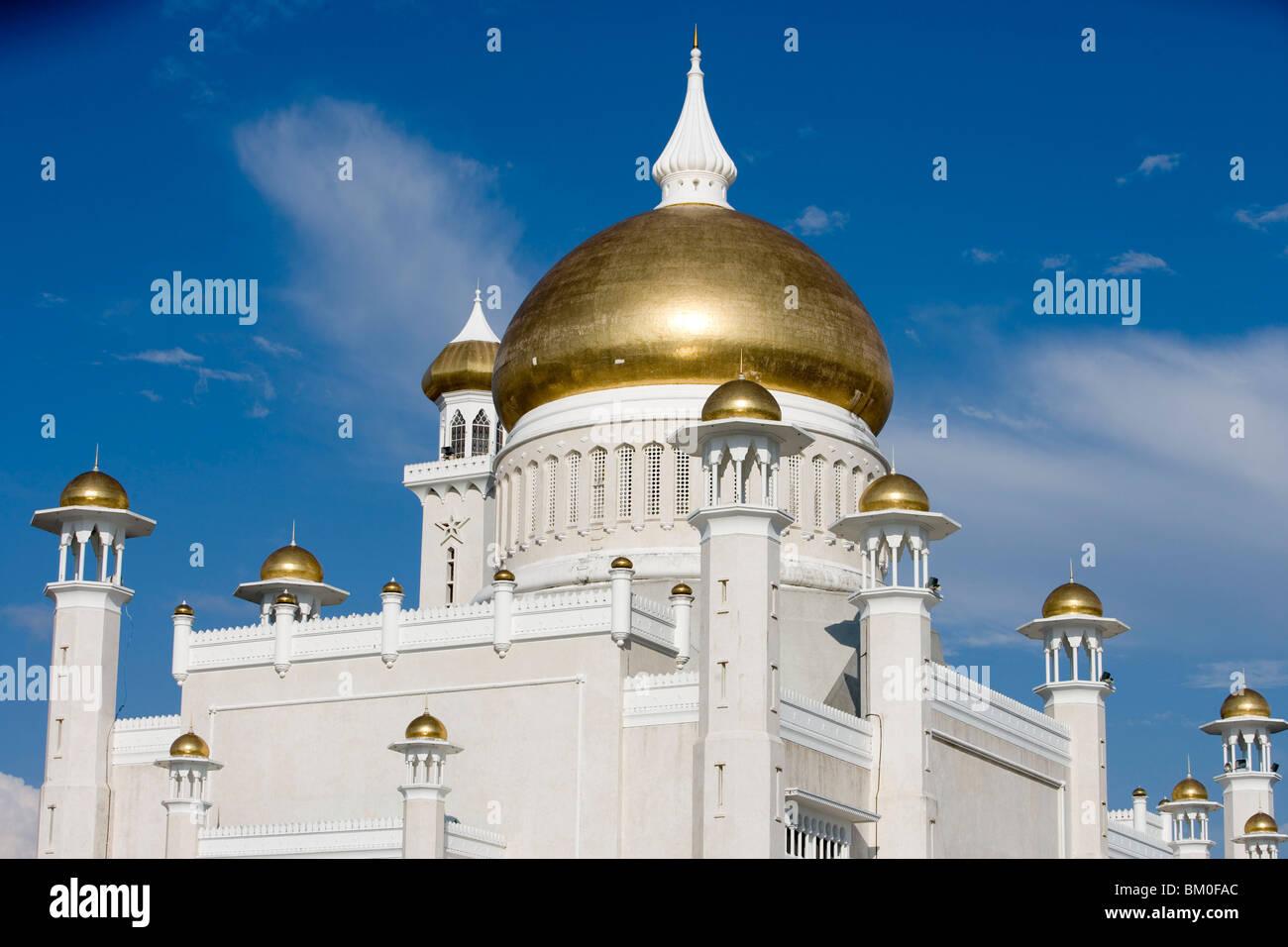 Omar Ali Saifuddien Mosque, Bandar Seri Begawan, Brunei Darussalam, Asia - Stock Image