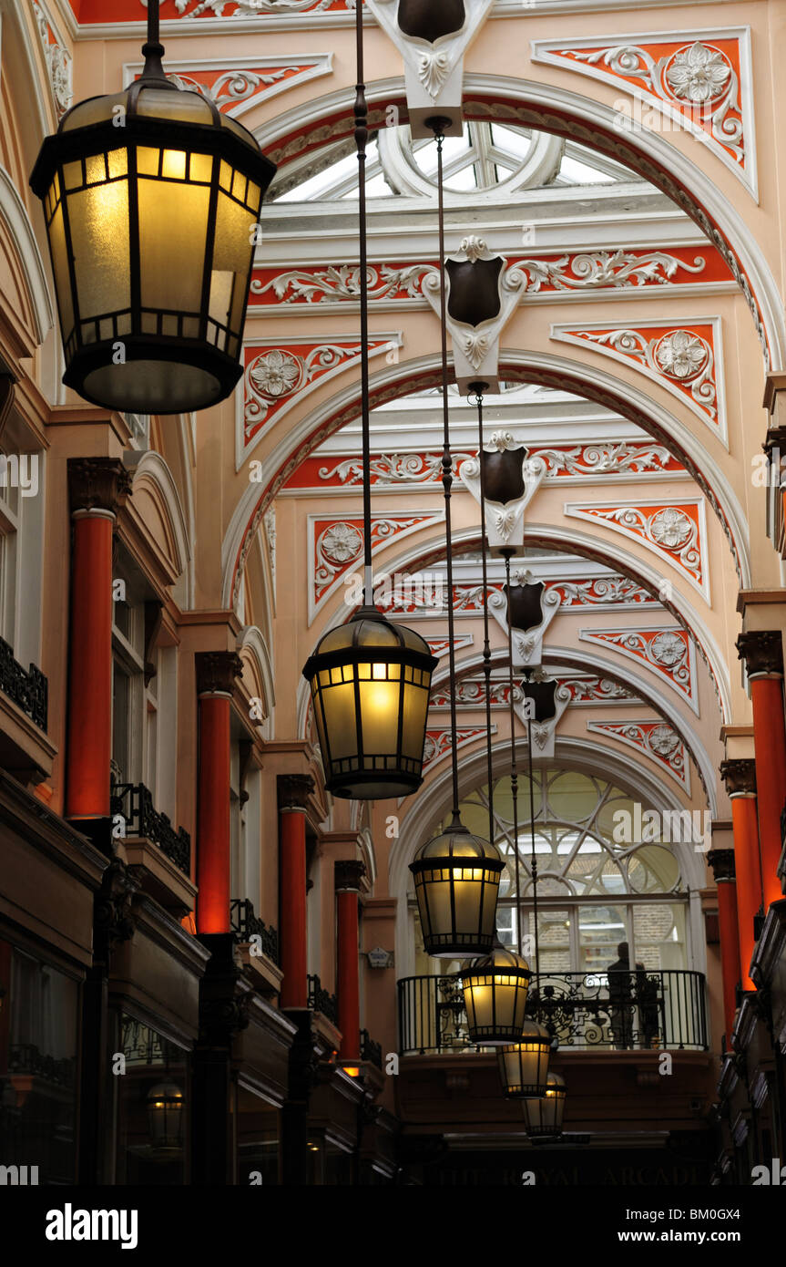 Detail of The Royal Arcade, off Old Bond Street, London, England UK - Stock Image
