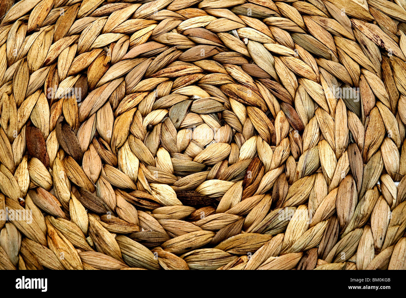 Detail of a wicker basket - Stock Image