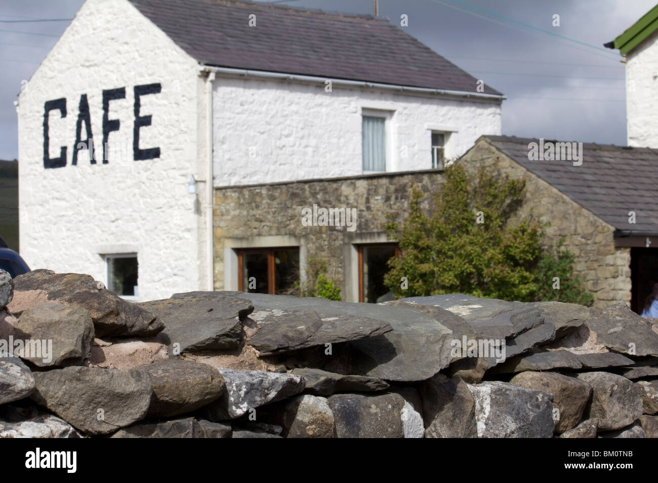 Three Peaks Cafe, Horton-In-Ribblesdale - Stock Image