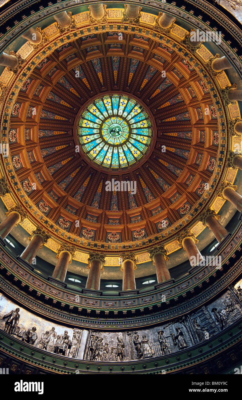 Interiors of a government building, Illinois State Capitol, Springfield, Illinois, USA - Stock Image