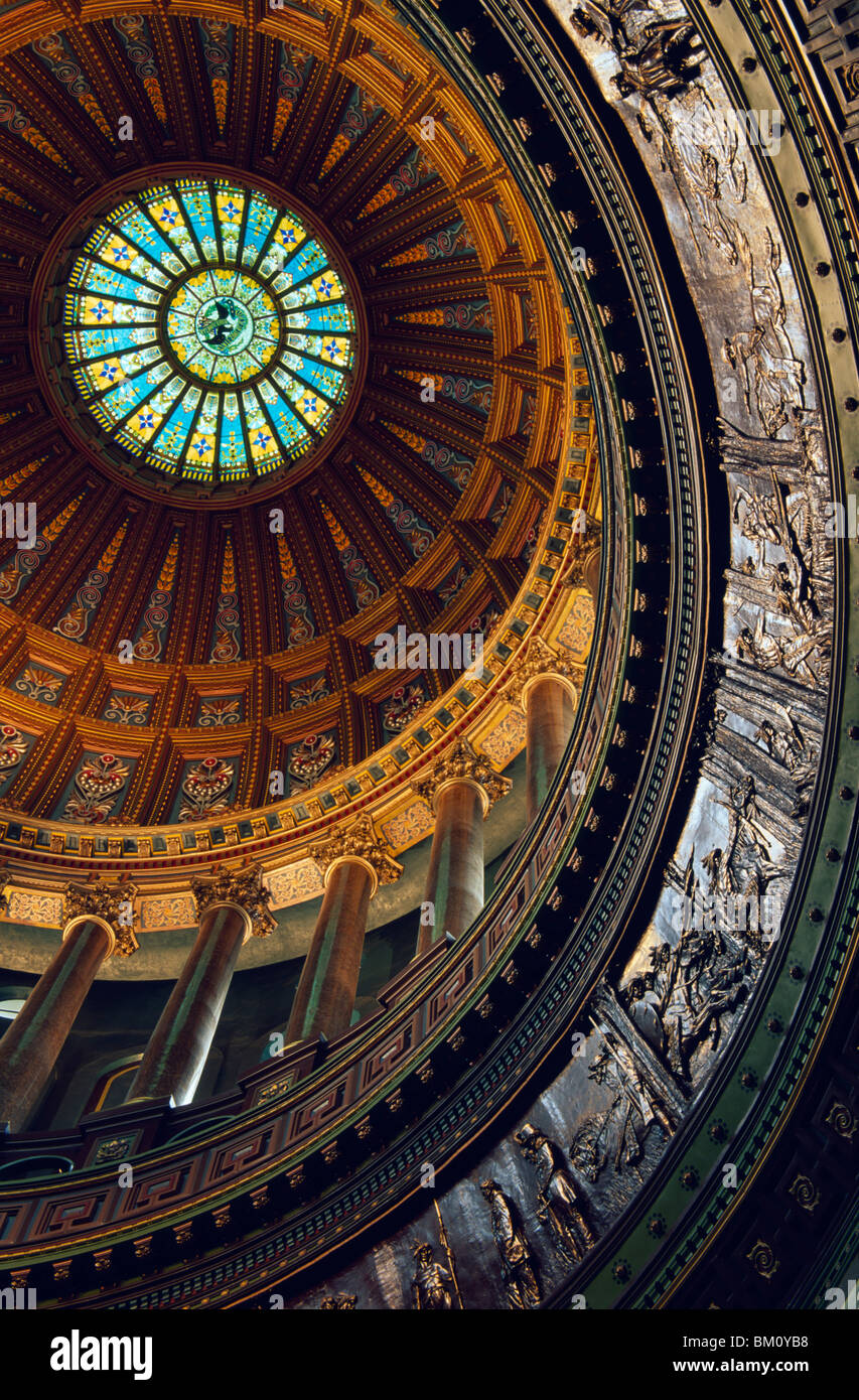 Architectural details of a government building, Illinois State Capitol, Springfield, Illinois, USA - Stock Image