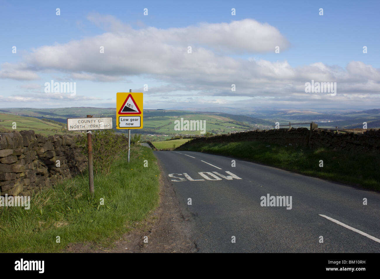 Road to Sutton-In-Craven, Yorkshire, England - Stock Image