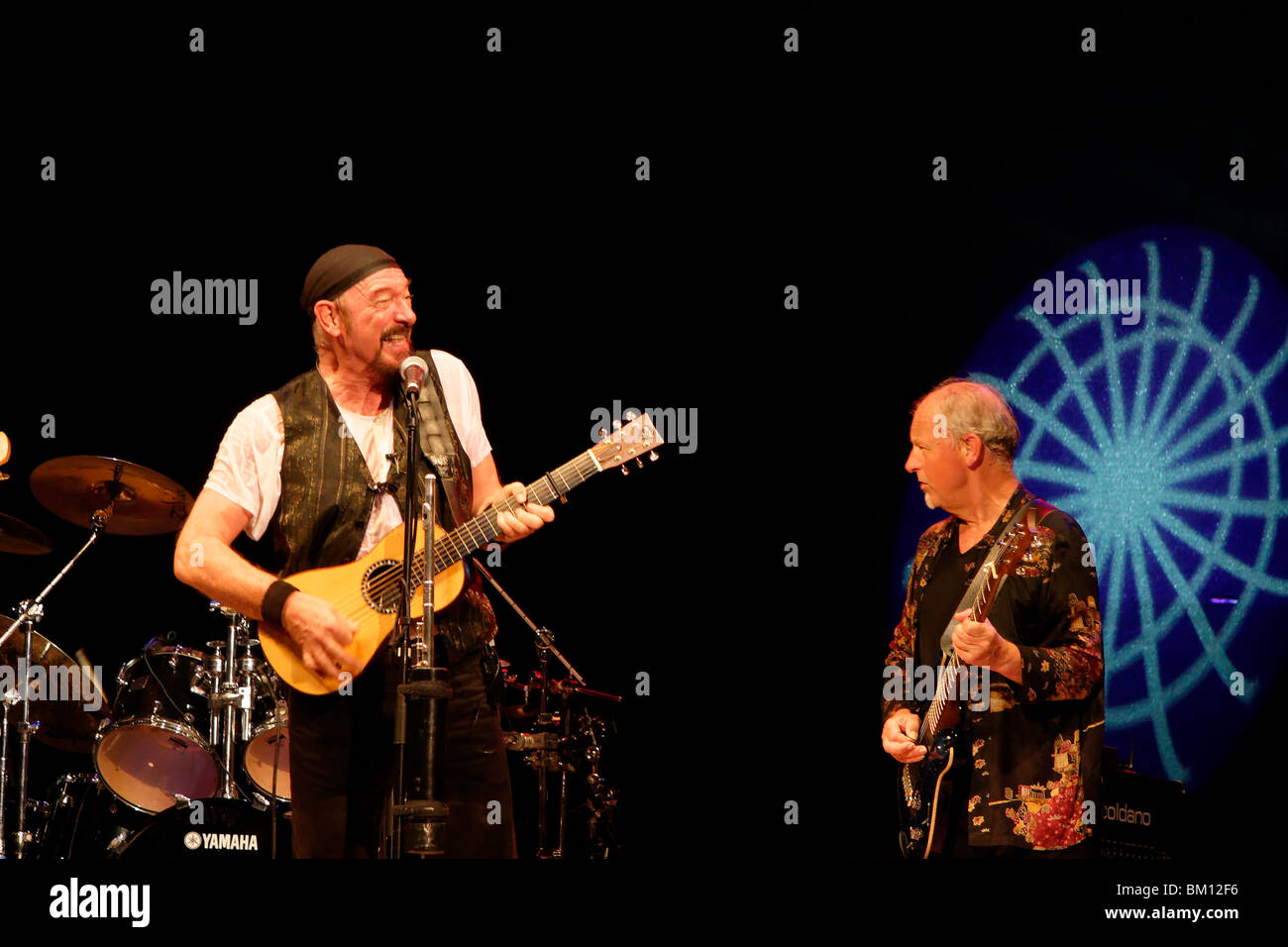 Ian Anderson and Martin Barre, Jethro Tull concert in Caesarea, Israel - Stock Image