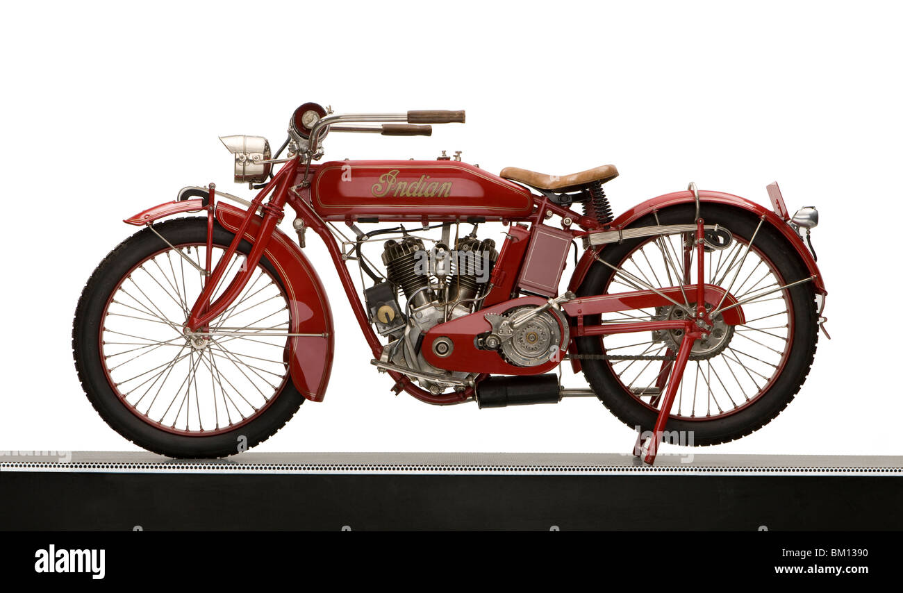 1917 Indian 7hp Powerplus motorcycle - Stock Image